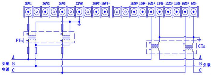 三相三线系统接线图
